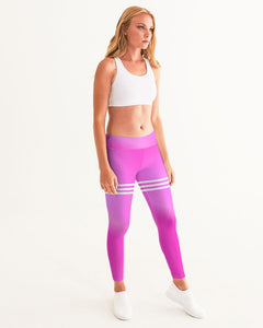 Beautiful In Pink Collection - Women's Dye Fade Classic Yoga Leggings - Beautiful In Pink Collection