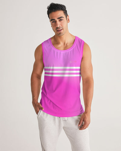 Beautiful In Pink Collection Dye Fade Men's Sports Tank - Beautiful In Pink Collection