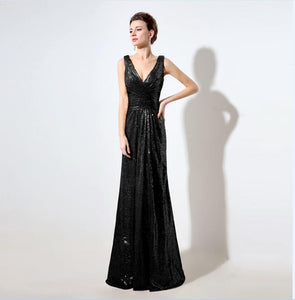 Just Beautiful Collection - Women's Rose Gold Sequin Dress - Beautiful In Pink Collection