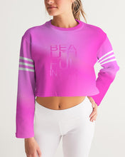 Load image into Gallery viewer, Beautiful In Pink Collection Dye Fade Women's Cropped Sweatshirt - Beautiful In Pink Collection