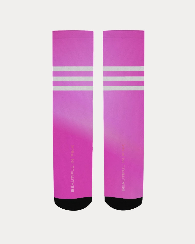 Beautiful In Pink Collection Dye Fade Women's Socks - Beautiful In Pink Collection