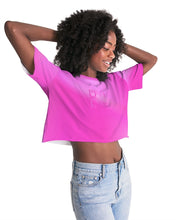 Load image into Gallery viewer, Beautiful In Pink Collection Dye Fade Women's Lounge Cropped Tee - Beautiful In Pink Collection