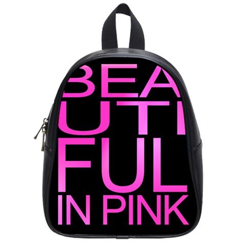 Beautiful In Pink Collection Kids Backpack (Small) - Beautiful In Pink Collection