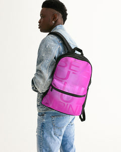 Beautiful In Pink Collection Dye Fade Small Canvas Backpack - Beautiful In Pink Collection