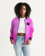 Load image into Gallery viewer, Beautiful In Pink Collection Dye Fade Women's Bomber Jacket - Beautiful In Pink Collection