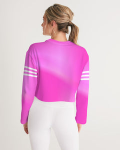 Beautiful In Pink Collection Dye Fade Women's Cropped Sweatshirt - Beautiful In Pink Collection