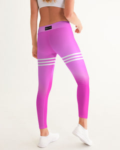 Beautiful In Pink Collection Dye Fade Women's Yoga Pants - Beautiful In Pink Collection