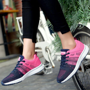 Just Pink Collection - Women's Outdoor Sports Breathable Rose Mesh Sneakers - Beautiful In Pink Collection