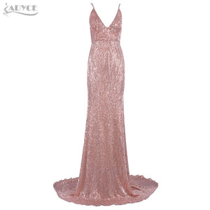 Just Pink Collection - Women's Spaghetti Strap Maxi Floor Evening Dress - Beautiful In Pink Collection