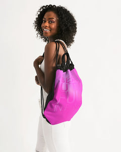 Beautiful In Pink Collection Dye Fade Canvas Drawstring Bag - Beautiful In Pink Collection