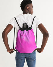 Load image into Gallery viewer, Beautiful In Pink Collection Dye Fade Canvas Drawstring Bag - Beautiful In Pink Collection