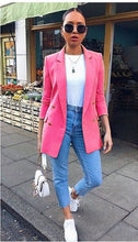 Load image into Gallery viewer, Just Beautiful Collection - Women's Causal Button Suit Coat - Beautiful In Pink Collection