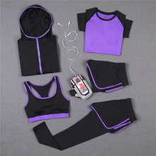 Load image into Gallery viewer, Just Beautiful Collection -  Women's 5 PCS Full Yoga Workout Suit Set - Beautiful In Pink Collection