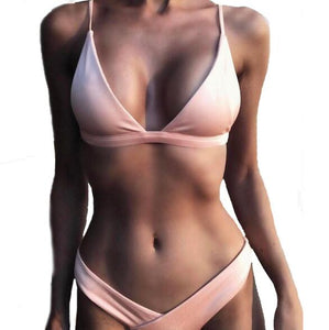 Just Pink Collection - Women's Backless Swimsuit Set - Beautiful In Pink Collection