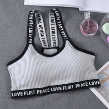 Load image into Gallery viewer, Just Beautiful Collection - Women's Peace Love Flirt Stretch Yoga Sports Bra - Beautiful In Pink Collection