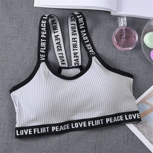 Just Beautiful Collection - Women's Peace Love Flirt Stretch Yoga Sports Bra - Beautiful In Pink Collection