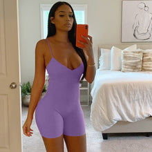 Load image into Gallery viewer, Just Beautiful Collection - Women's V-Neck Spaghetti Strap Jumpsuit - Beautiful In Pink Collection