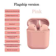 Load image into Gallery viewer, Sale Collection -  i12 Tws Wireless Bluetooth 5.0 Earphones - Beautiful In Pink Collection