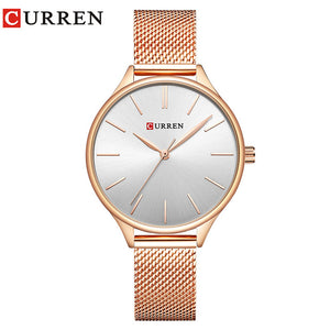 Just Pink Collection - Rose Gold Curren Wrist Watch - Beautiful In Pink Collection