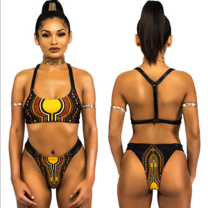 Just Beautiful Collection - Women's African Print Wind Totem Swimsuit - Beautiful In Pink Collection