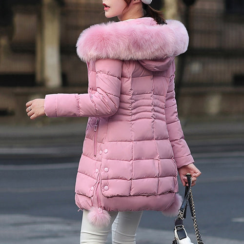 Just Pink Collection - Women's Faux Fur Winter Coat - Beautiful In Pink Collection