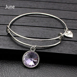 Sale Collection - Adjustable Birthstone Bangle Bracelet For Women - Beautiful In Pink Collection