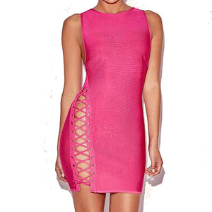 Just Pink Collection - Women's Sleeveless Bandage Dress - Beautiful In Pink Collection