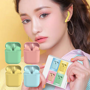 Sale Collection -  i12 Tws Wireless Bluetooth 5.0 Earphones - Beautiful In Pink Collection