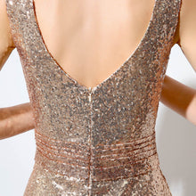 Load image into Gallery viewer, Just Beautiful Collection - Women's Rose Gold Sequin Dress - Beautiful In Pink Collection