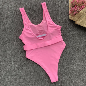 Just Pink Collection - Women's Padded One Piece Swimsuit - Beautiful In Pink Collection