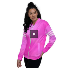Load image into Gallery viewer, Beautiful In Pink Collection Dye Athletic Unisex Velour Zip Up Jacket - Beautiful In Pink Collection