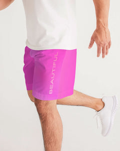 Beautiful In Pink Collection Dye Fade Men's Jogger Shorts - Beautiful In Pink Collection