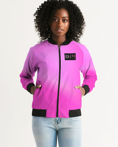 Beautiful In Pink Collection Dye Fade Women's Bomber Jacket - Beautiful In Pink Collection