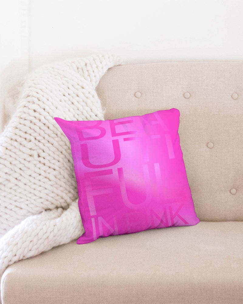 Beautiful In Pink Collection Dye Fade Throw Pillow Case 16