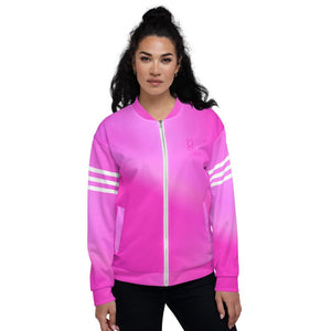 Beautiful In Pink Collection Dye Athletic Unisex Velour Zip Up Jacket - Beautiful In Pink Collection