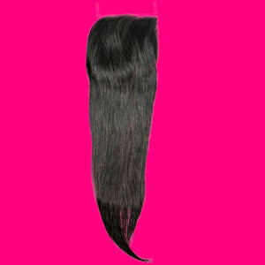 BIP Hair Collection - Brazilian Silky Straight Closure - Beautiful In Pink Collection