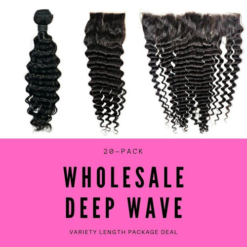 BIP Hair Collection - Brazilian Deep Wave Variety Length Package Deal - Beautiful In Pink Collection