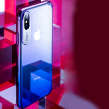 Load image into Gallery viewer, iPhone Xs Gradient Aluminium Alloy Glaze Series Case