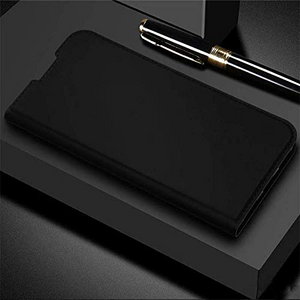 Oneplus 6T DUX DUCIS® Skin PU Leather with Card Slot Flip Case - Black