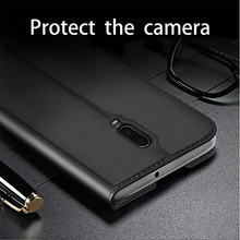 Load image into Gallery viewer, Oneplus 6T DUX DUCIS® Skin PU Leather with Card Slot Flip Case - Black