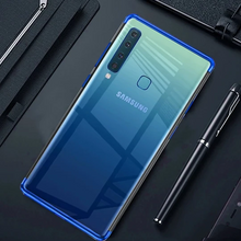 Load image into Gallery viewer, GALAXY A9 2018 SILICONE ULTRA THIN TRANSPARENT CASE