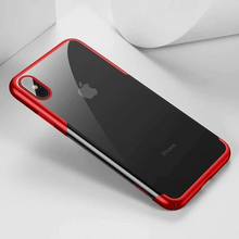 Load image into Gallery viewer, iPhone Xs Max Electroplating TPU Transparent Case