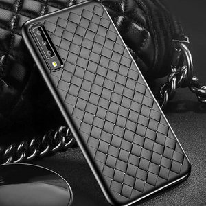 GALAXY A7 2018 SOFT SILICONE WEAVE CASE