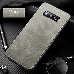 Galaxy S9 Plus Cloth Canvas Fabric Leather Case
