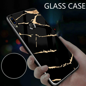 Samsung Galaxy M20 Gold Marble Back Case