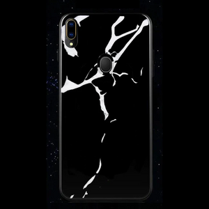 Samsung Galaxy M20 Marble Back Case White & Black