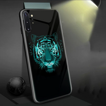 Load image into Gallery viewer, Galaxy Note 10 Radium Tiger Logo Glow Glass Hard Case