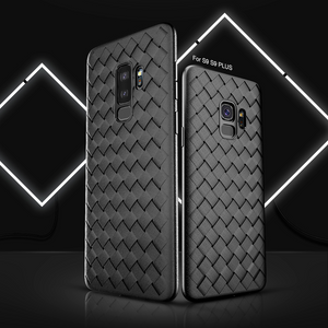 Galaxy A6 Plus Soft Silicone Weave Case