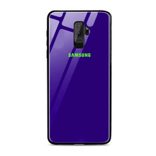 Load image into Gallery viewer, Galaxy A6 Plus Radium Logo Glow Glass Hard Case