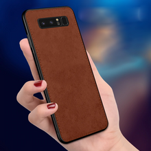 Load image into Gallery viewer, Galaxy Note 8 Cloth Canvas Fabric Leather Case